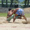 Beach Wrestling on Beach Courts