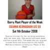 Barry Plant Player of the Week - Summer 08/09