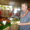 President Rogge has a traditional Tongan lunch