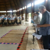 President Rogge listens to the choir at Tupou College