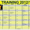 IK TRAINING CALENDER FOR 2013 SEASON